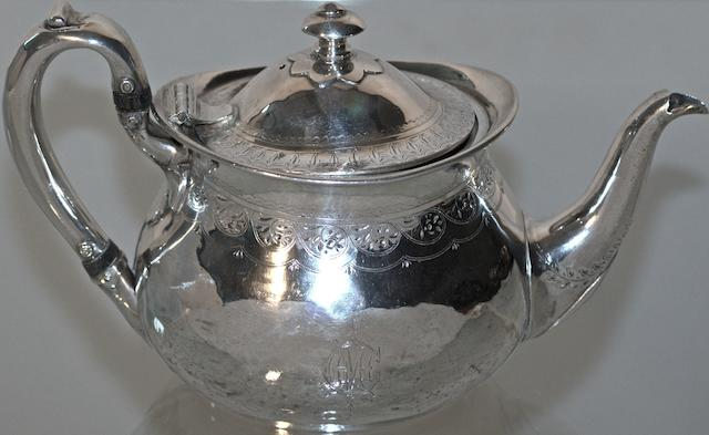 An Australian silver teapot by William Drummond & Co, Melbourne, circa 1880
