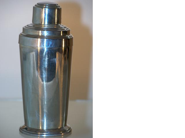 An Australian silver cocktail shaker by William J. Sanders, Sydney, circa 1910