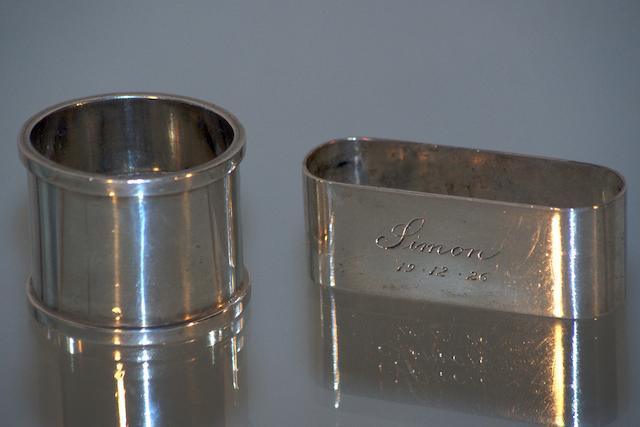 An Australian silver napkin ring by Jochim Mathias Wendt, Adelaide, circa 1890