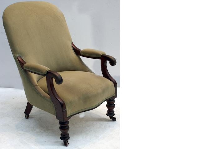 An Australian  cedar and upholstered armchair Circa 1850