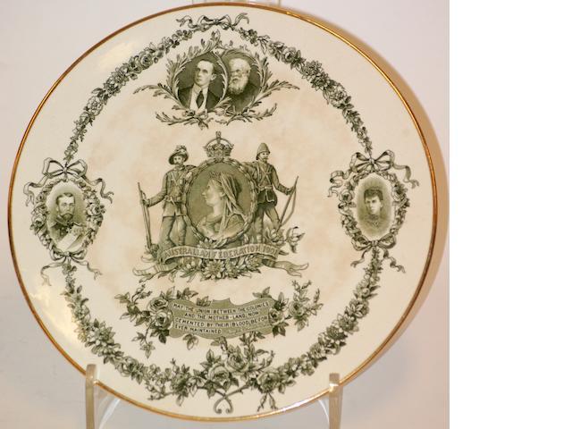 A Doulton Burslem Australian Federation 1901 commemorative plate