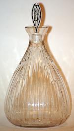 """""""Algues Noir"""" a Lalique black glass plate"""
