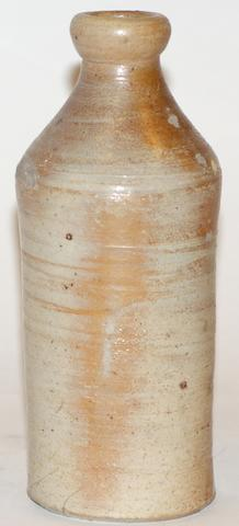 An Australian stoneware ginger beer bottle by Jonathan Leak, circa 1820
