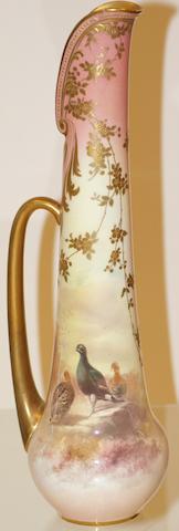 A Doulton Burslem tall slender jug, circa 1900