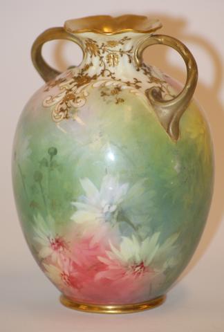 A Doulton Burslem Luscian ware two handled vase, circa 1895