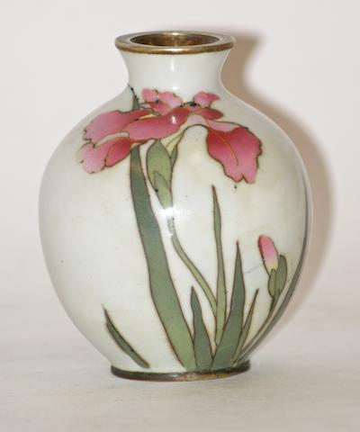A Japanese cloisonne ovoid vase by Tada Zo