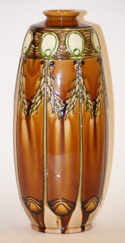 A Minton pottery Secessionist vase, circa 1910