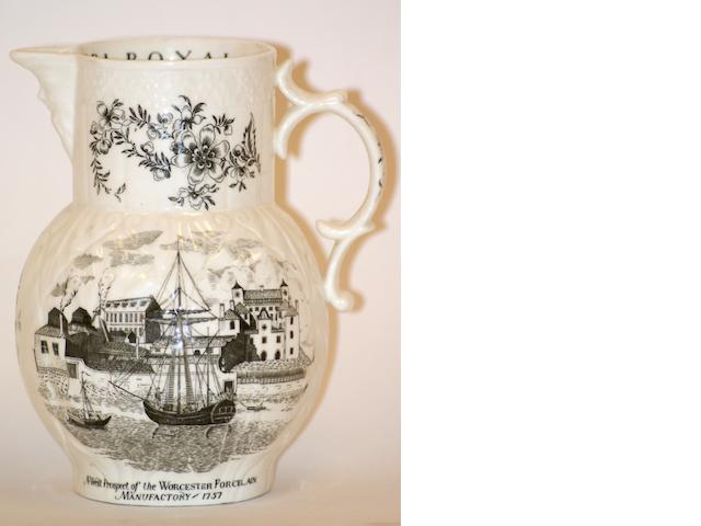 A Royal Worcester Bicentenary mask jug, 1951,