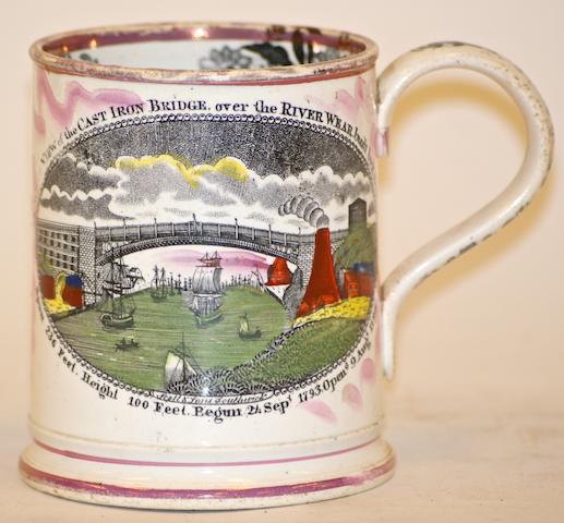 A Sutherland & Sons pottery frog mug, circa 1850