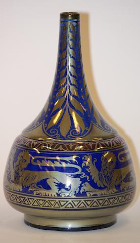 A Pilkington's Royal Lancastrian lustre vase, by William S. Mycock, 1923