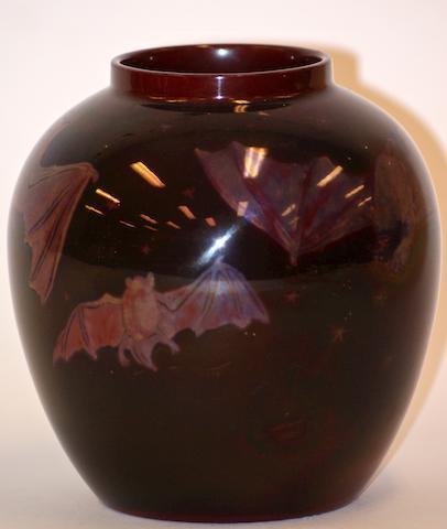 A Bernard Moore flambe vase, circa 1910