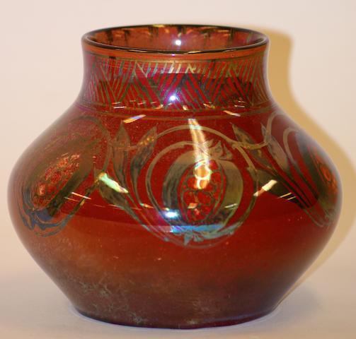 A Pilkington's Royal Lancastrian lustre vase by Gwladys M. Rodgers, circa 1920