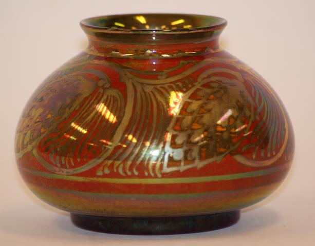 A Pilkingtons Royal Lancastrian lustre vase by Gwladys M. Rodgers, circa 1920
