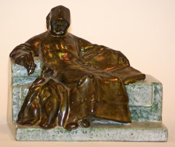 A Hungarian Zolnay figure 'Dante Alighieri', circa 1920