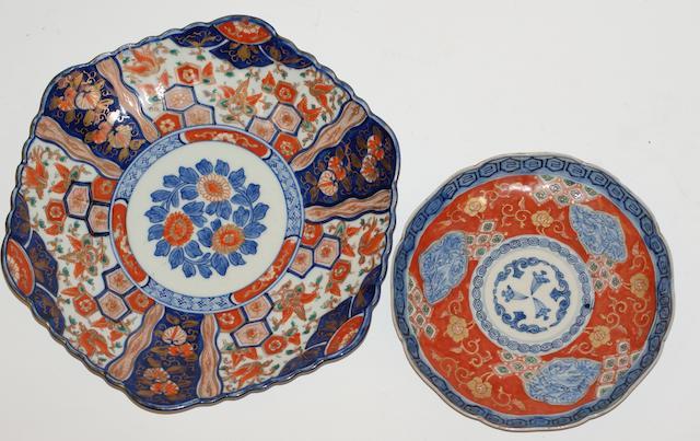 Two Chinese Imari plates, 19th century