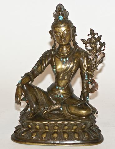 A Tibetan bronze figure of Tara, 19th century