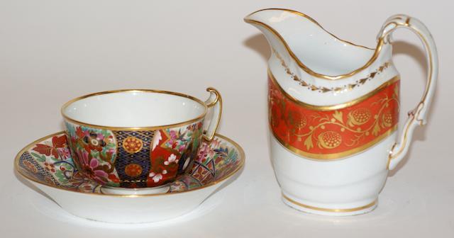 A Barr Worcester cream jug circa 1800