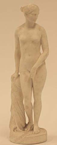 A Minton & Co  Parian porcelain figure 'The Greek Slave' of a naked young girl