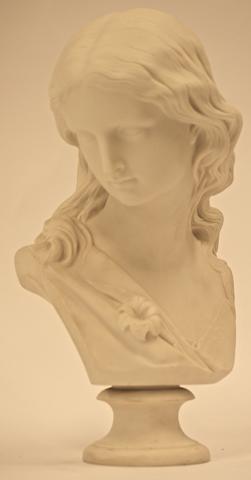 A Copeland Parian porcelain bust, 1869