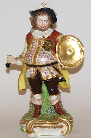 A Derby porcelain figure of Sir John Falstaff, circa 1770