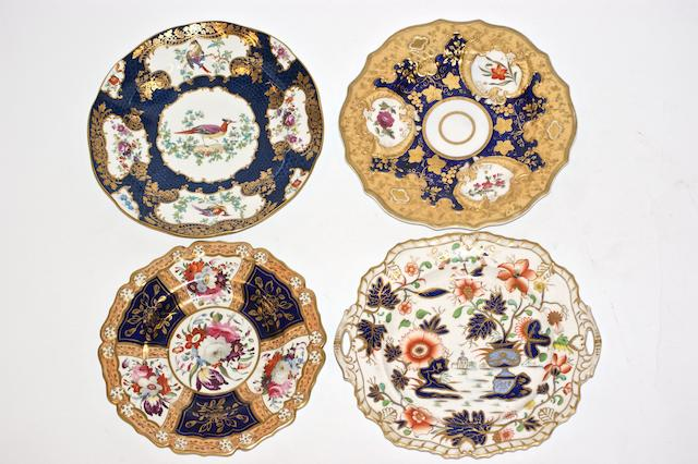 A collection of six English Porcelain plates