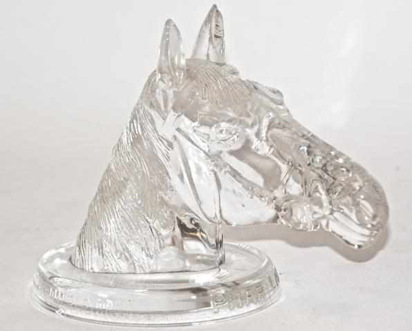 Phar Lap, a clear glass paperweight bust