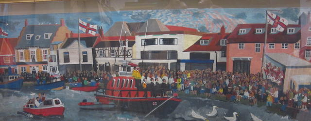 Brian Lewis (British, born  1947) 'Life Boat Service, Wells-Next-The-Sea'