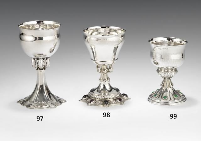 A silver goblet by Omar Ramsden, London 1932