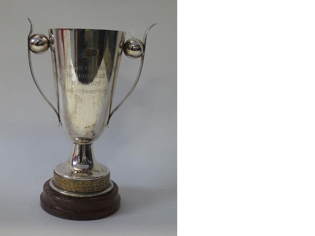 A 1975 Grosser Preis von Deutschland trophy,