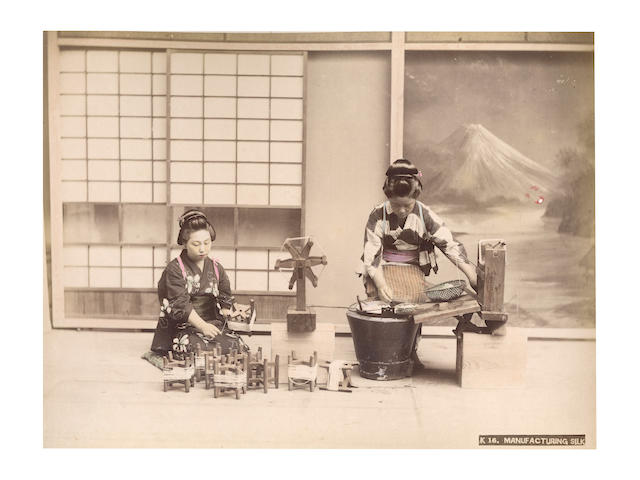 JAPAN  An album of 50 views and portraits, [c.1890]