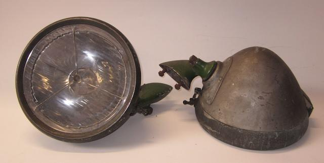 A pair of Lucas P100 electric headlamps, 1930s,
