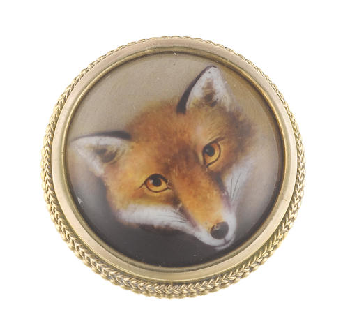 William Bishop Ford (British, 1832-1922) A portrait miniature of a Fox