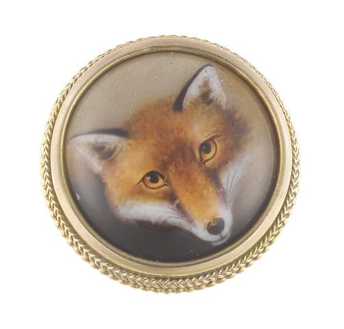William Bishop Ford (British, 1832-1922) A portrait miniature of a Fox