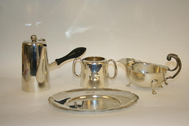 A silver cafe au lait pot  Walker & Hall, Sheffield 1912  (4)