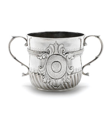 A Queen Anne silver porringer possibly by Thomas Waterhouse, London 1703