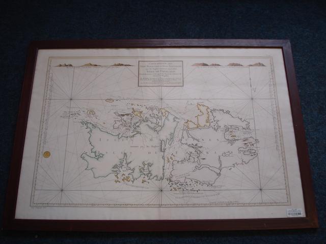 FALKLAND ISLANDS. BELLIN (JACQUES NICOLAS) Carte réduite des Isles Malouines ou Isles Nouvelles que les Anglois nomment aujourdhui Isles de Falkland...., Paris, 1771