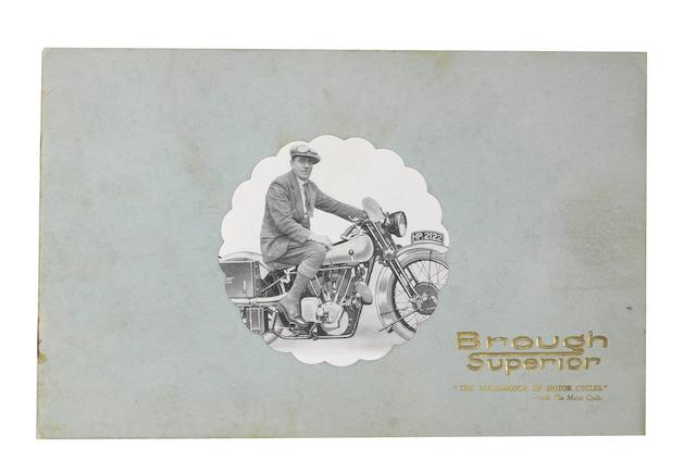 A rare 1928 Brough Superior range brochure,