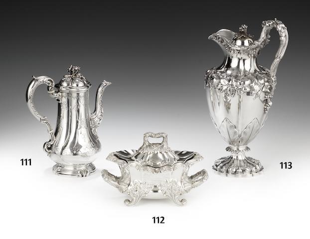 A Victorian silver coffee pot by Robert Garrard London 1841