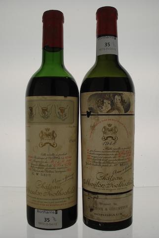 Chateau Mouton Rothschild 1948 (1)<BR />Chateau Mouton Rothschild 1964 (1)