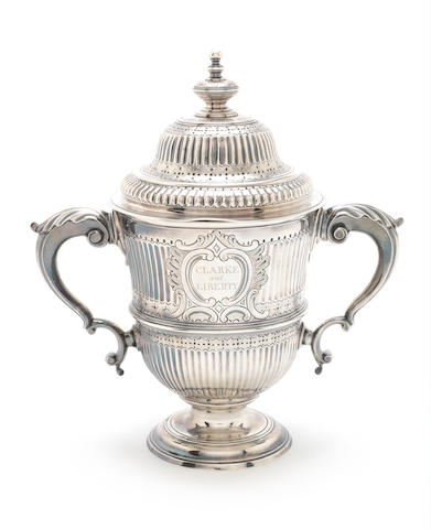 A George III silver twin handled cup and cover Charles Wright 1768