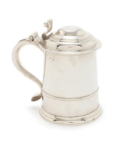 A Queen Anne silver tankard by Thomas Parr, London 1713