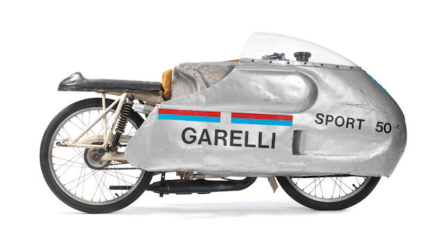 1963 Garelli 50cc Record Breaking Racing Motorcycle Engine no. 2270302