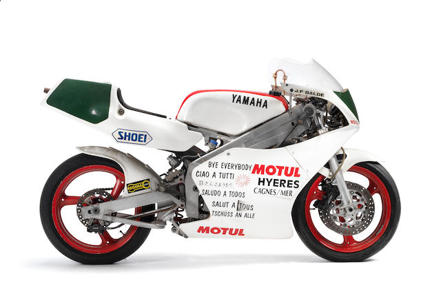 The ex-Jean-Francois Baldé,1989 Yamaha TZ250W Grand Prix Racing Motorcycle Frame no. 003229