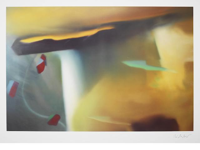 Gerhard Richter (German, born 1932) Abstraktes Bild Offset lithograph in colours, 1991, on thin wove, signed in black ink, published by Achenbach Art Editions, Düsseldorf, with full margins, 700 x 900mm (27 1/2 x 35 3/8in)(SH)(unframed)