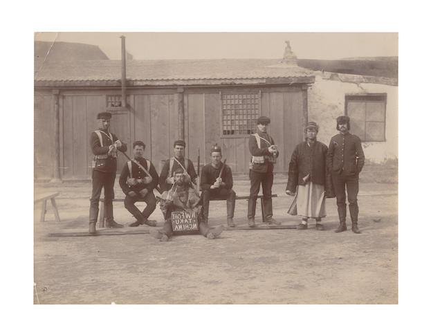 CHINA - BOXER REBELLION A group of 11 views and portrait groups of participants in the Boxer Rebellion, 1901 (11)