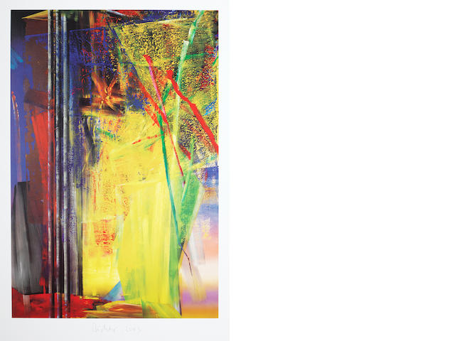 Gerhard Richter (German, born 1932) Victoria I & II The pair of offset lithographs printed in colours, 1986, each on wove, each signed and dated in pencil, published by Achenbach Art Edition, Düsseldorf, each with full margins, each 800 x 600mm (31 1/2 x 23 5/8in) (SH) (unframed) (2)