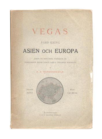 NORDENSKIÖLD (ADOLF ERIK) Vegas färd kring Asien och Europa, 12 parts in 10 vol. [complete], 1880-1881
