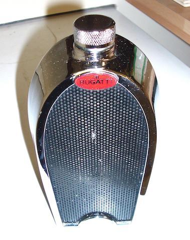 A Bugatti radiator decanter by Ruddspeed,
