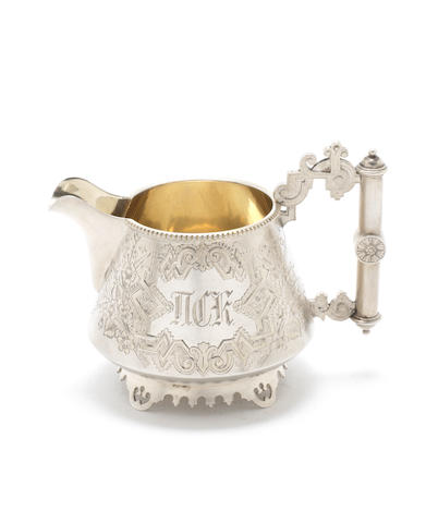SALE DATE AND ESTIMATES NEED CONFIRMING WITH CLIENTSCream jug with Fabergé marks