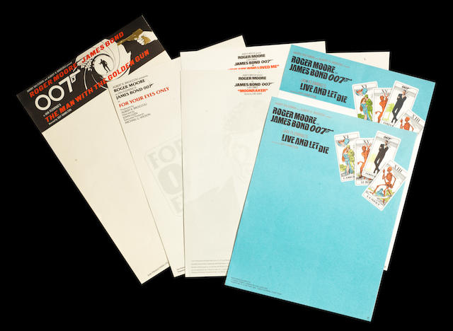 James Bond; six sheets of Eon Productions headed notepaper,